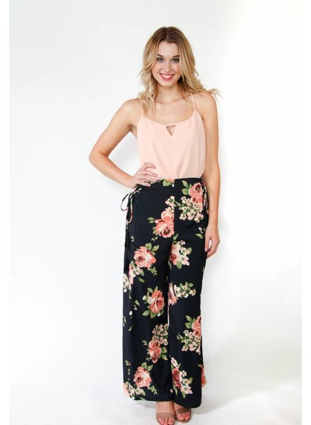 Band of Gypsies Floral Wide Leg Pant