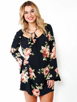 Band of Gypsies Floral Keyhole Dress