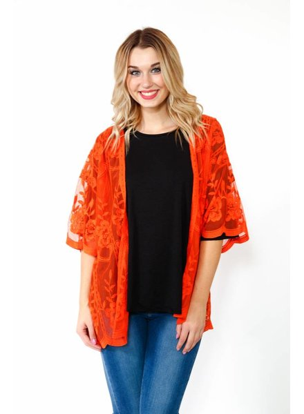 Honey Belle Sheer Lace Kimono