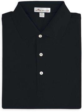 Peter Millar Solid Cotton Lisle w/ Knit Collar