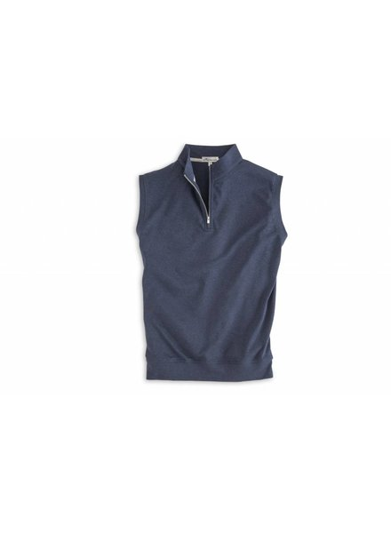 Peter Millar Heather Interlock 1/4 Zip Vest
