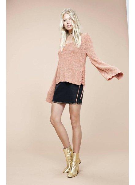 Mink Pink Beau Lace Side Sweater