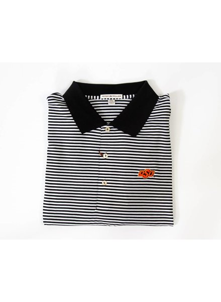 Col.S/S Classic Stripe Polo, Knit Collar