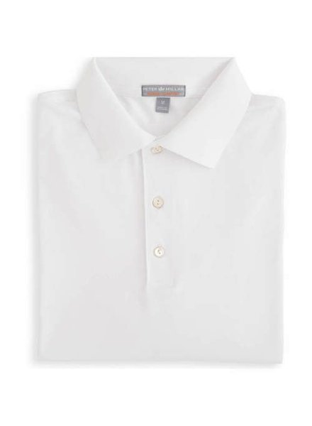 Peter Millar Solid Stretch Jersey w/ Knit Collar