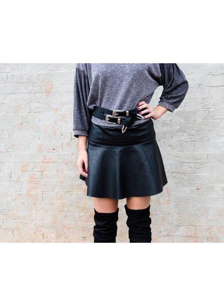 Skater Leather Skirt