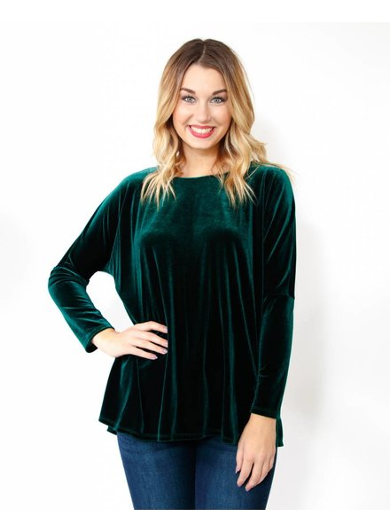 Velvet Dolman Sleeve Top