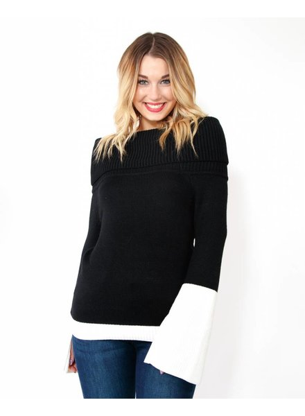 DO + BE Cold Shoulder Sweater