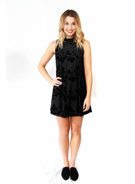 Velvet Embossed Dress