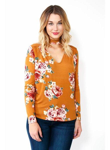 Cherish L/S Floral Top
