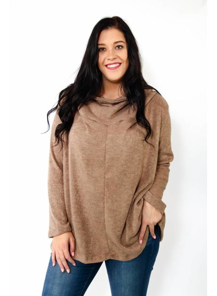 Off The Shoulder Cowl Neck Sweater