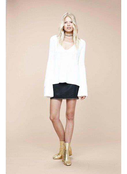 Mink Pink Mona Split Sleeve Sweater