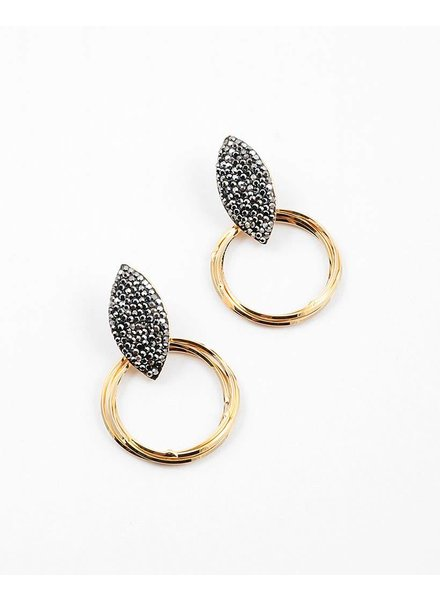 Hemitate Hoop Earring
