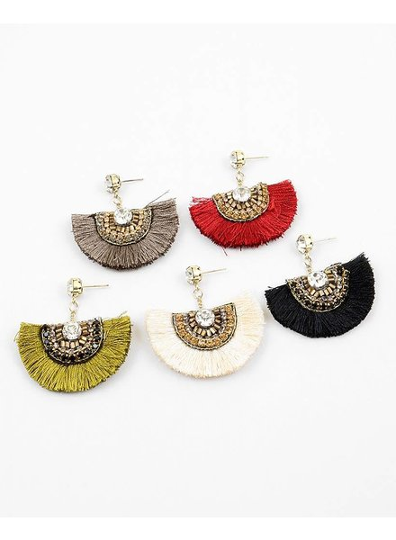 Fan Affair Fringe Earring