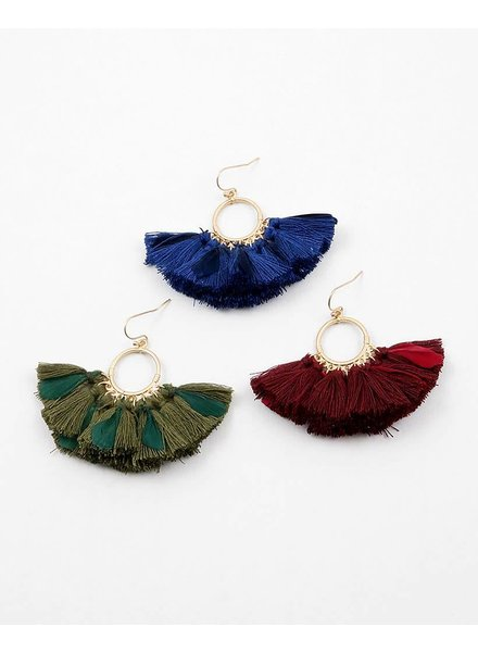 Feathered Fringe Earring