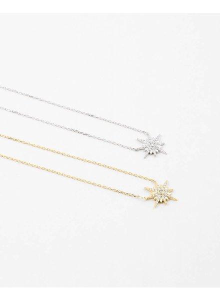"Starburst Petite Necklace, 17"""