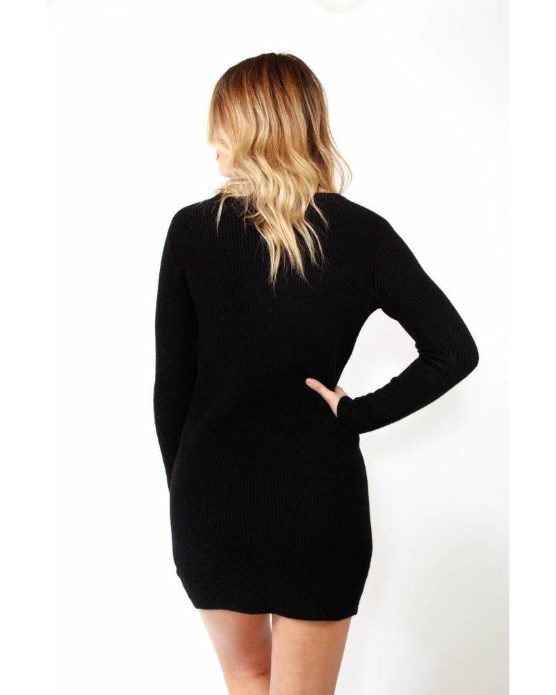Lace Up Sweater Tunic