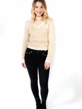 Endless Rose Choker Neck Sweater