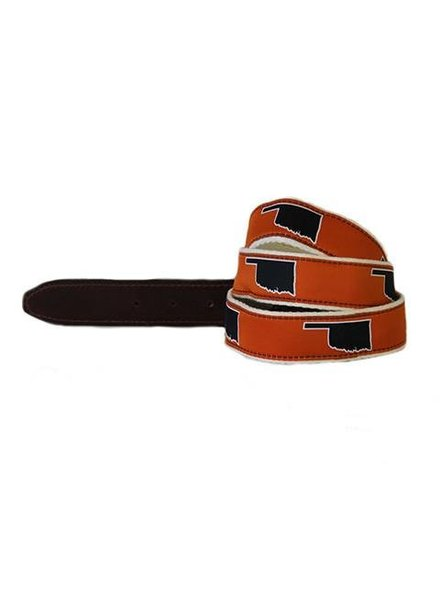 State Traditions Oklahoma Ribbon Belt
