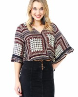 Sadie & Sage Printed Wrap Top