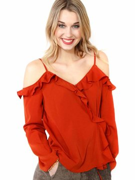 After Market Cold Shoulder Top
