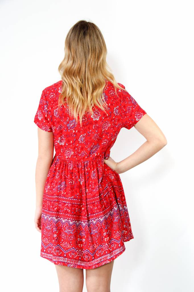 Mink Pink Lucia Button Mini Dress