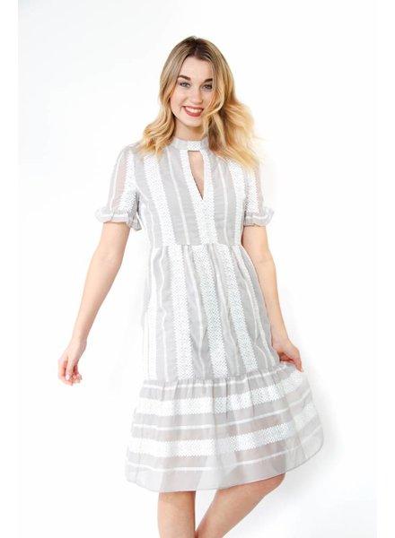 Endless Rose Lace Detail Midi Dress