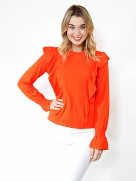 After Market Front Ruffle Sweater Top