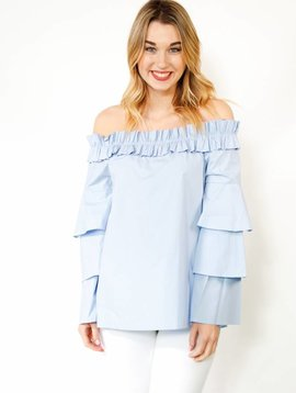 Fashionomics Ruffled Sleeve OTS