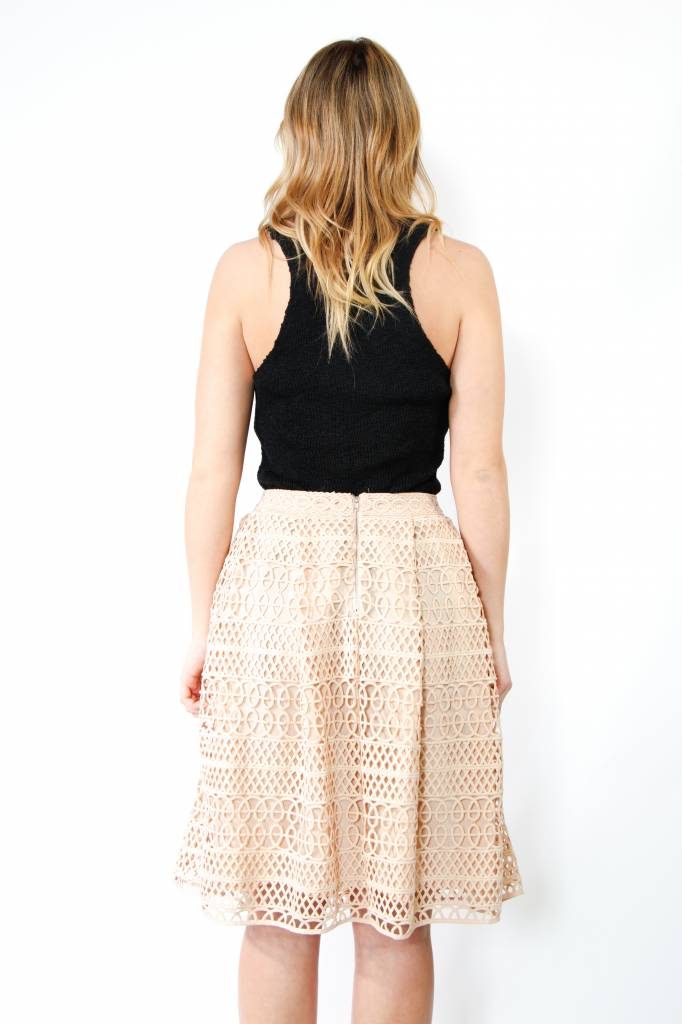 Endless Rose Crochet Lace A-Line Skirt
