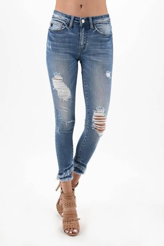 KanCan Destroyed Frayed Jean