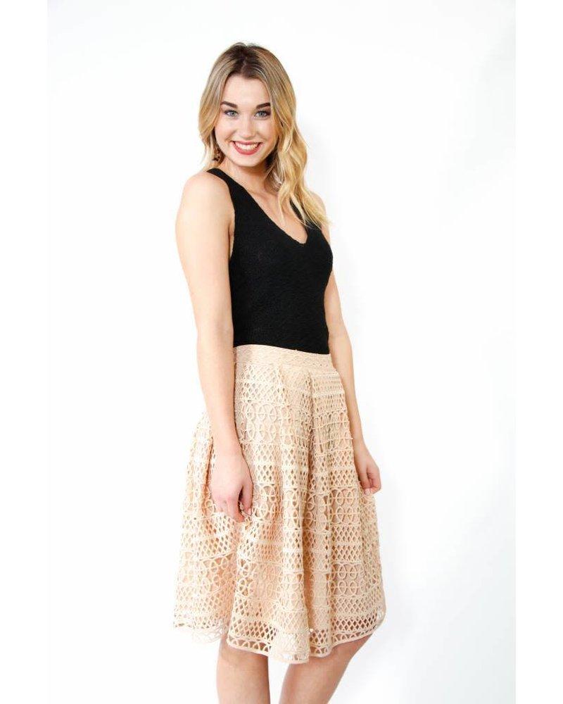 Endless Rose Crochet Lace A-Line Skirt
