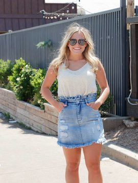 Hayden HIgh Waist Denim Skirt