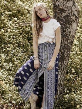 Band of Gypsies Bandana Button Front Skirt