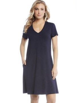 Karen Kane Quinn V-Neck Pckt Dress