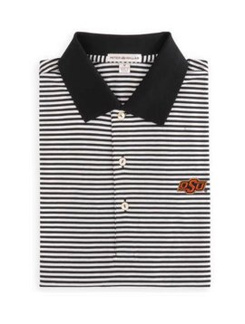 Peter Millar Col.S/S Classic Stripe Polo, Knit Collar