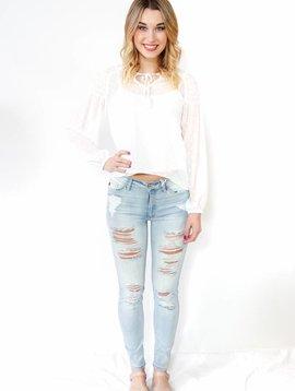 KanCan Destroyed Skinny Jean
