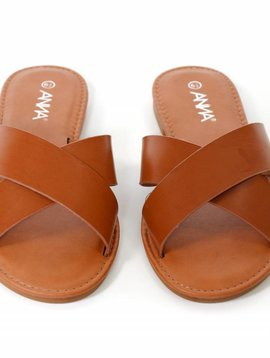 LETS SEE STYLE Cross Strap Sandal