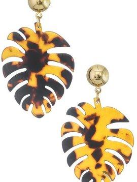 Wooden Nickel Exclusive Tortoise Palm Springs Earring