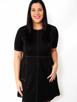 press & kersh Patch Pocket Dress