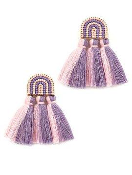 Wooden Nickel Exclusive Purple Alcova Tassel Earrings