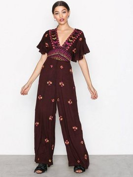 Free People Cleo Embr Jumpsuit