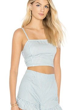 Mink Pink Toto Gingham Top