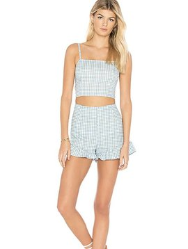 Mink Pink Toto Gingham Shorts