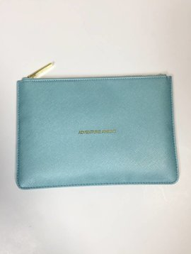 Katie Loxton Adventure Awaits Metallic Aqua Perfect Pouch