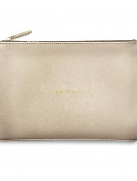 Katie Loxton Good As Gold Gold Perfect Pouch