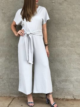 Lush Clothing Textured Jumpsuit