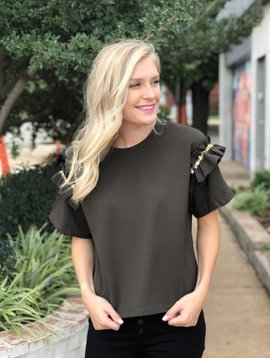 Molly Bracken Ruffle S/S Top
