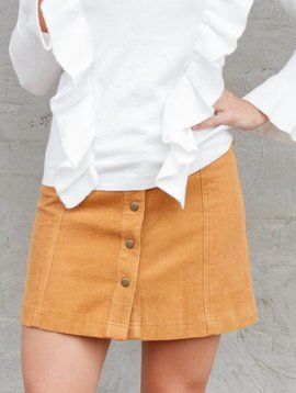 Soprano Button Front Skirt