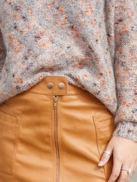 Free People High A-Line Vegan Skirt