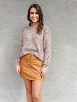 Molly Bracken Fuzzy Speckled Sweater